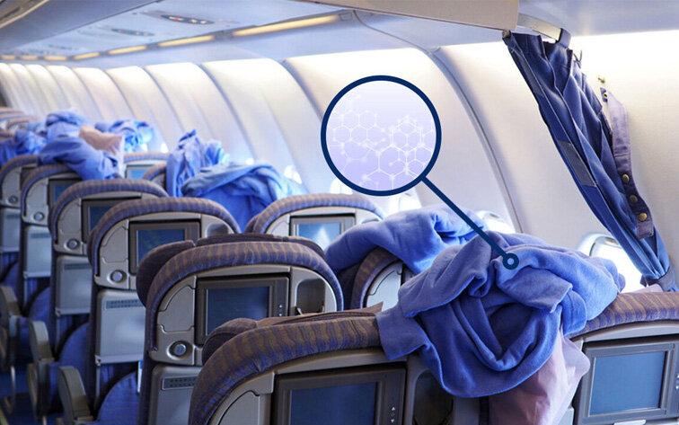 تولید پتوی ضد میکروب برای مسافران هوایی در داخل کشور